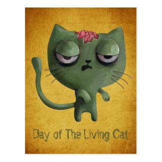 Zombie Cat Postcard