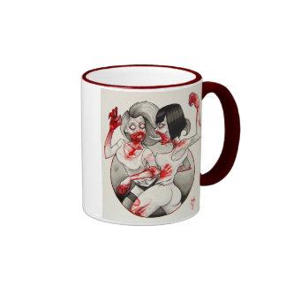 """""""Zombie Catfight!"""" Ringer Mug"""