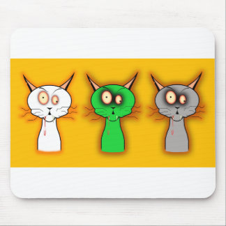 Zombie Cats Mouse Pads