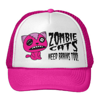 Zombie Cats need Brains Too! Cap