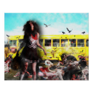 Zombie Cheerleader Attack Poster