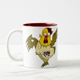 Zombie Chicken Two-Tone Coffee Mug
