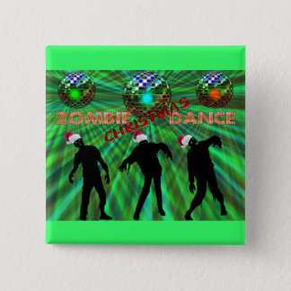 Zombie Christmas Disco Dance 15 Cm Square Badge