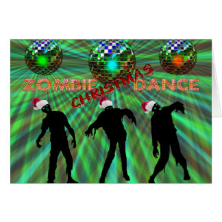 Zombie Christmas Disco Dance Card