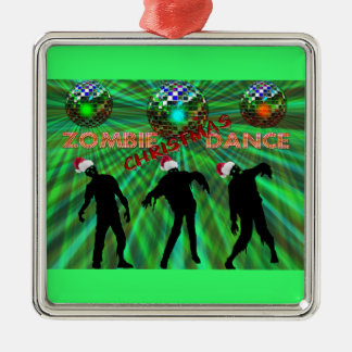 Zombie Christmas Disco Dance Christmas Ornament