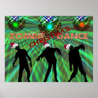 Zombie Christmas Disco Dance Poster