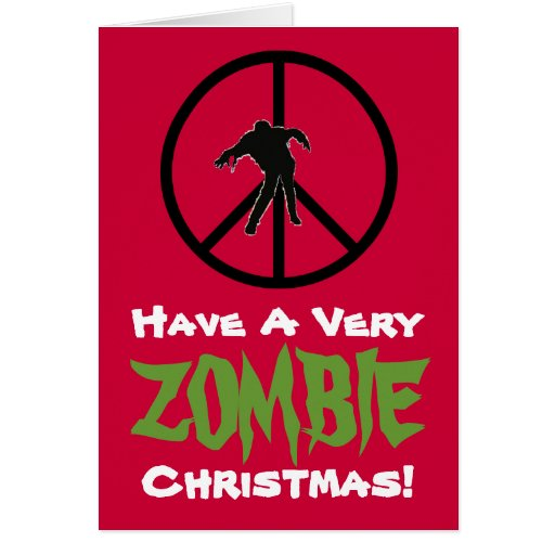 ZOMBIE Christmas Funny Greeting Card