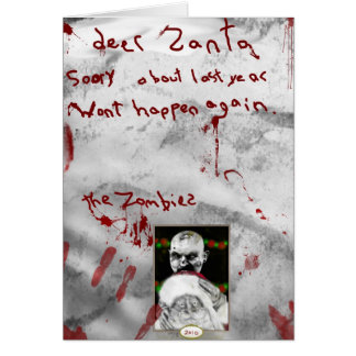 zombie christmas greeting card