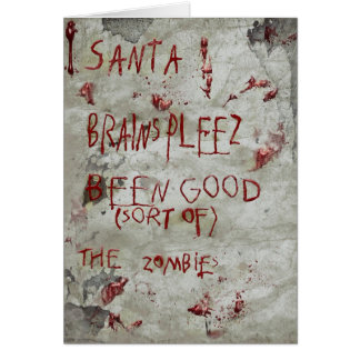zombie christmas greeting card