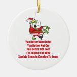 Zombie Claus (green) Ornament
