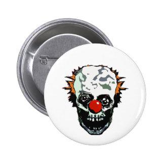 Zombie clown 6 cm round badge