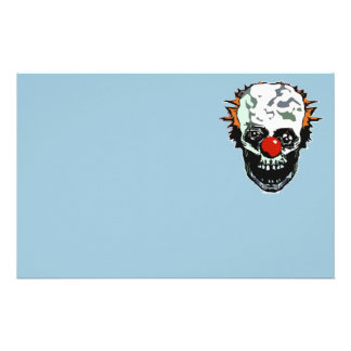 Zombie clown stationery paper