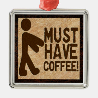 Zombie Coffee Christmas Ornament