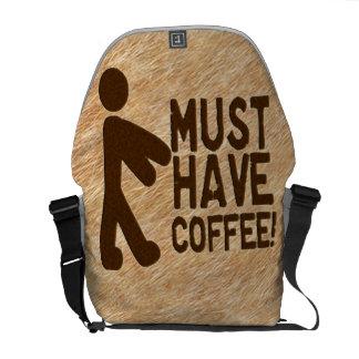 Zombie Coffee Messenger Bags