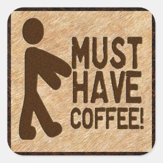Zombie Coffee Square Sticker