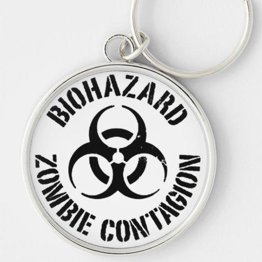 Zombie Contagion Keychain