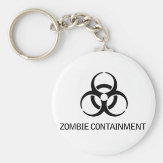 Zombie Containment Key Ring