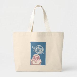 Zombie Cosmonaut Tote Bags