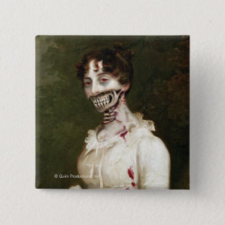 Zombie Cover 15 Cm Square Badge