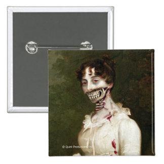 Zombie Cover 15 Cm Square Badge