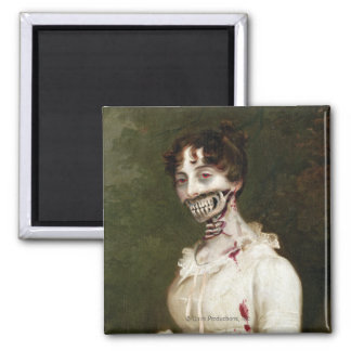 Zombie Cover Square Magnet