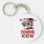 Zombie Cow Basic Round Button Key Ring
