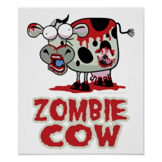 Zombie Cow Poster
