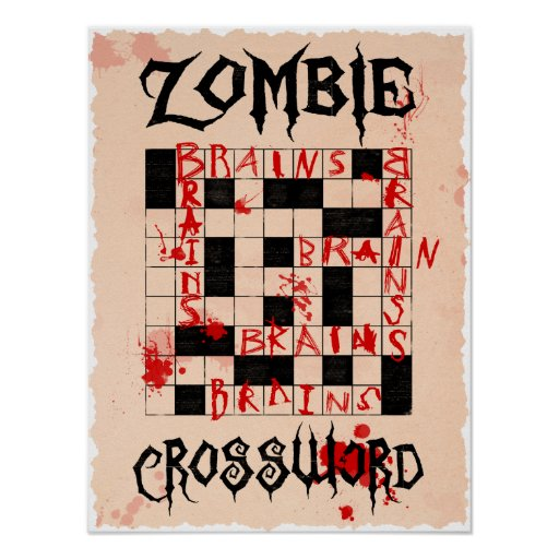 Zombie Crossword Poster