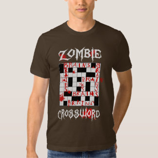 Zombie Crossword T Shirt
