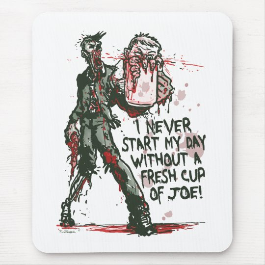 Zombie Cup of Joe Mouse Mat