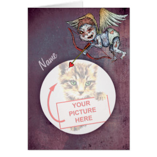 Zombie Cupid - Valentine (Add Your Own Pic) Greeting Card