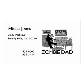 Zombie Dad Pack Of Standard Business Cards