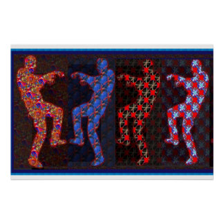 ZOMBIE DANCE :   24 X 36 INCHES POSTER