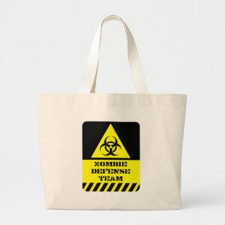 Zombie Defense Team Large Tote Bag