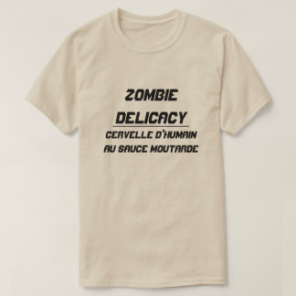 Zombie Delicacy Human brain with mustard sauce T-Shirt