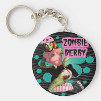 Zombie Derby Basic Round Button Key Ring