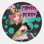 Zombie Derby Classic Round Sticker