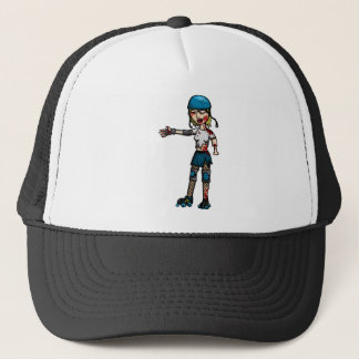 Zombie Derby Girl Trucker Hat