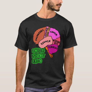 ZOMBIE DIETARY NEEDS: Brains! Tshirts