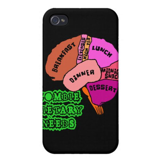 ZOMBIE DIETARY NEEDS: Brains! Tshirts iPhone 4/4S Cases