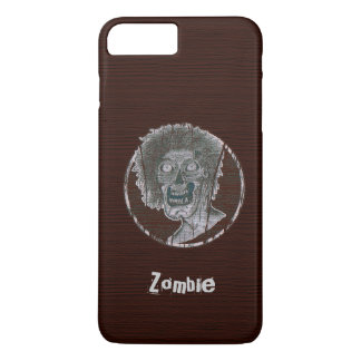 Zombie Distressed Looking Graphic Red/Grey iPhone 7 Plus Case