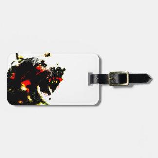 Zombie Dog Luggage Tag w/ leather strap