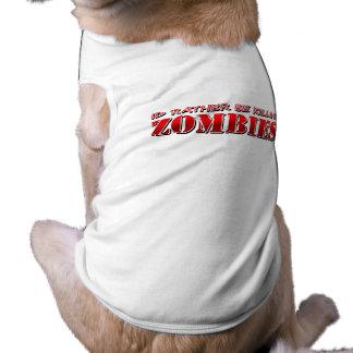 Zombie Sleeveless Dog Shirt