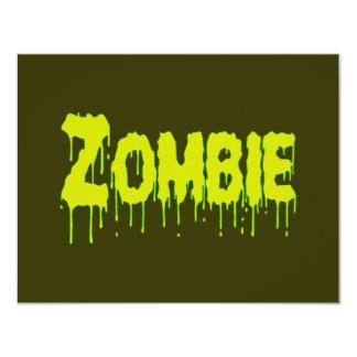 Zombie Drip 11 Cm X 14 Cm Invitation Card