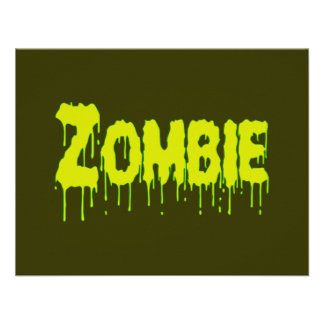 Zombie Drip Personalized Announcement