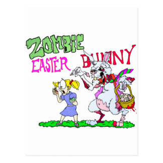 Zombie Easter Bunny Postcard