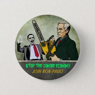 Zombie Economy Ron Paul Button