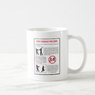 Zombie Emergency Procedure Basic White Mug