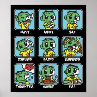 Zombie Emoticons Print