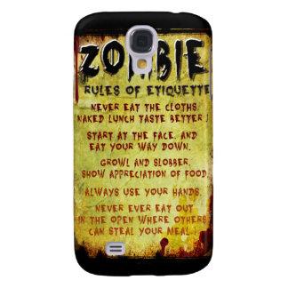 Zombie Etiquette Galaxy S4 Case